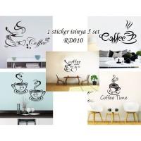 RD RD010 COFFEE QUOTE KOPI STICKER DINDING 60X90 WALSTIKER WALLST