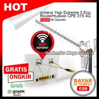 Paket Hotspot Router Huawei B315 B315s-22 4G & Antena Yagi Extreme 3