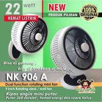 "NIKO NK 906A - KIPAS ANGIN DUA FUNGSI 9"" ROTARY - kipas angin meja"