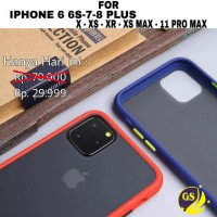 HYBIRD MATTE HARD CASE APPLE IPHONE 6 6s 7 8 PLUS X XR XS 11 PRO MAX
