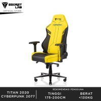 Secretlab TITAN 2020 Prime PU Leather Kursi Gaming - Cyberpunk 2077