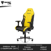 Secretlab OMEGA 2020 Prime PU Leather Kursi Gaming - Cyberpunk 2077