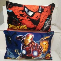 Bantal Boneka Superhero Jumbo Spiderman, Iron Man