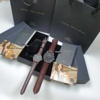 jam tangan Couple kulit paket