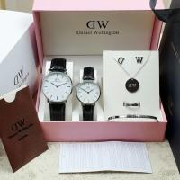 jam tangan Couple silver paket komplit 4 varian warna