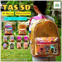 Tas Sekolah Anak / Tas Anak SD / Backpack Sequin / Tas LOL - A097 - H Hello Kitty