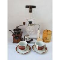 Coffee Maker Syphon dan Grinder Kopi Paket Lengkap - Original Big Sale