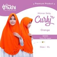 Jilbab Vania Muthi Khimar Daily Curly size XL - Merah