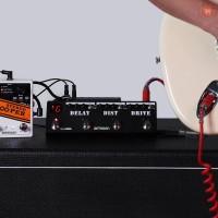 Gemei Ammoon pockmon Strip Pedal Efek Gitar dengan Tuner Delay FX