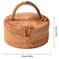 Dompet Handmade Wanita Bahan Anyaman Bambu untuk Musim Panas /