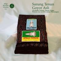 SARUNG TENUN GOYOR LEGENDARIS DIJAMIN ASLI - APOLLO TERBANG HITAM