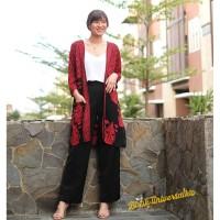 Long outer kimono batik tunik cardigan - Lathi gunungan