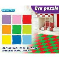 Alas Lantai Puzzle Matras Busa Karpet Warna Sponge Evamat Polos SNi - Biru Muda