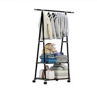 Stand Hanger Triangle/Gantungan Rak Pakaian Serbaguna Dengan 4 Roda