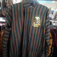 Baju/kemeja Surjan Setelan dewasa/lurik /Batik jawa /pakaian adat jawa - Cokelat, M