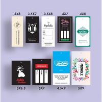 Hangtag Label Baju - 3 x 8 cm, Cetak 1 Sisi