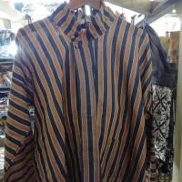 Kemeja Atasan Surjan XXL Baju Surjan Lurik Pakaian Adat Jawa Tenun