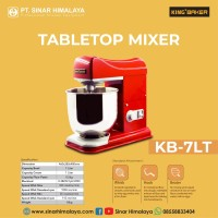 KB-7LT-7 Liter Mixer Roti With Bowl, Whisk, Hook, Beater (King Baker)