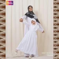 Gamis Anak Nibras NSAP 71 Warna Putih Polos Set Baju Jilbab Ngaji Anak