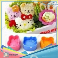Cetakan Nasi Bento Hello Kitty