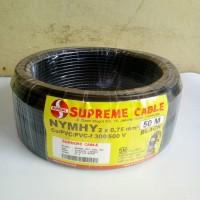 kabel supreme 2 x 0.75 NYYHY hitam serabut - jual per meter / meteran