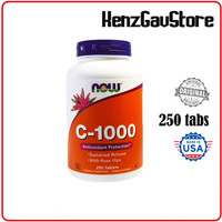 VITAMIN C 1000 mg NOW FOODS 100 tabs , Sustained Release & Rose Hips - 250 tabs