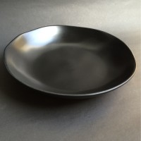 Mangkok Pasta Hitam Gelombang D.23.5cm-H.4.5cm | Ekspor Murah