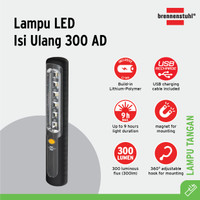 Brennenstuhl Lampu Senter LED Isi Ulang Manual 300 AD - 1178590100