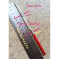 Kikir Diamond Flat 4mm x 160mm - Kikir Intan