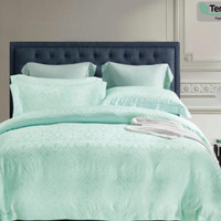 Sutra Tencel Bedding set Sprei Bedcover King or Queen Size Blue