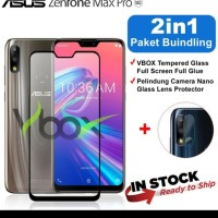 Tempered Glass 9D ASUS ZENFONE MAX PRO M2 + TG Camera Lensa 2 in 1