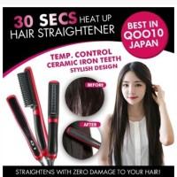 Hair Straightener Sisir Dan Catok Dalam Satu Genggaman | Catok Sisir