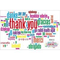 RD013 THANK YOU MULTI BAHASA 60X90 WALLSTICKER WAL STIKER DINDING