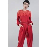 Jolie Clothing Zudily Jumpsuit (Red) Size XS