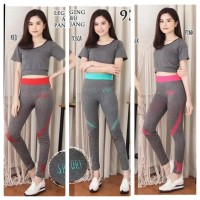 Setelan baju senam aerobik/ fitness olahraga import wanita