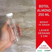 Botol Almond 250 ml / Botol Plastik 250 ml Almond (15gr) - Hitam