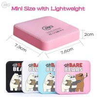Powerbank 20000mAh We Bare Bear Cute Portable Mini Power Bank - Merah Muda