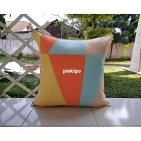 PINKIIPO - Sarung Bantal Sofa 60x60 [Zenith Orange]