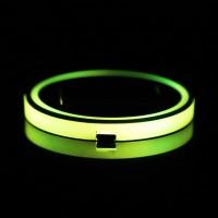 2Pcs Holder Gelas Tenaga Surya dengan Lampu LED RGB 7 Warna