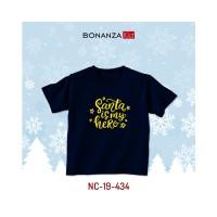 Kaos Natal Anak Gold bahan Combed 30s BonanzaKid