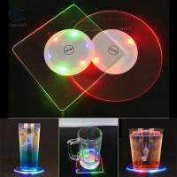 Alas Gelas Dengan Lampu Led Aneka Warna Tahan Air