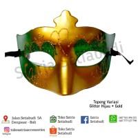 Topeng variasi Gliter pink+gold/Mask party/topeng pesta