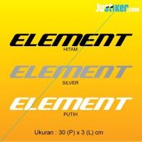 Sticker Sepeda Element Logo, Frame Sticker 30x3cm