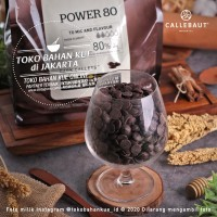 Callebaut Dark Chocolate POWER 80% 500gr Cokelat Couverture Coin Pahit