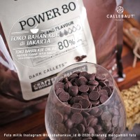 Callebaut Dark Couverture POWER 80% 250gr Cokelat Chocolate Coin Pahit