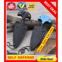 Pisau Kalung self defense / Dagger mini Bottle opener survival kit