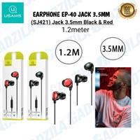USAMS EP-40 IN-EAR EARPHONE HANDSFREE HEADSET JACK 3.5MM WITH MIC 1.2M
