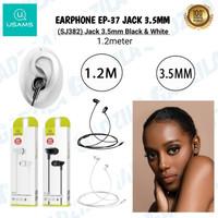 USAMS EP-37 IN-EAR PLASTIC EARPHONE HANDSFREE HEADSET JACK 3.5MM