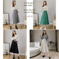 Knit Midi Skirt Rok Rajut Bawahan Wanita Rajut