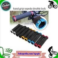 Hand Grip Handlebar Sepeda MTB Ergonomic Model Double Lock On LLY3